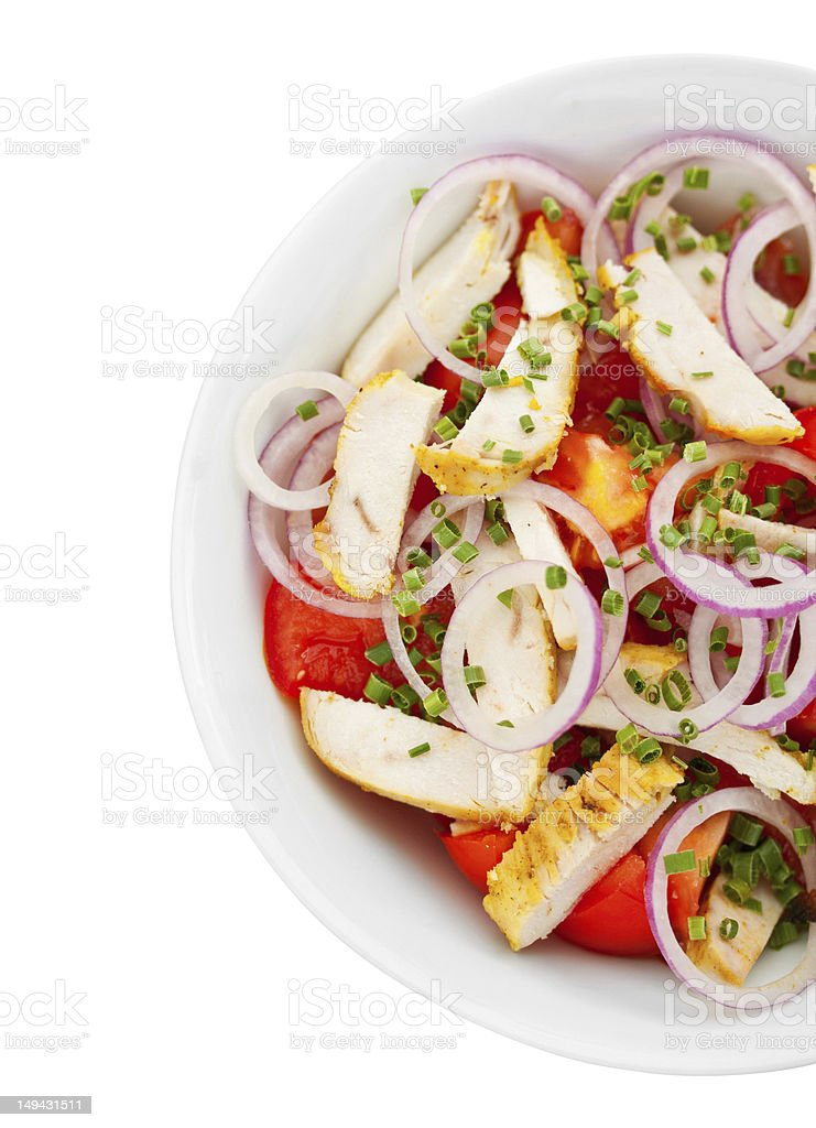 Chicken and Tomato Salad stock photo