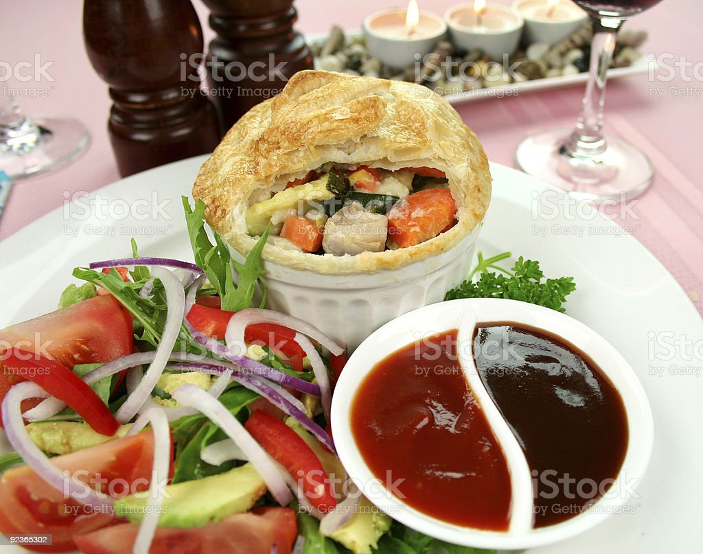 Chicken And Vegetable Pie royalty-free stock photo