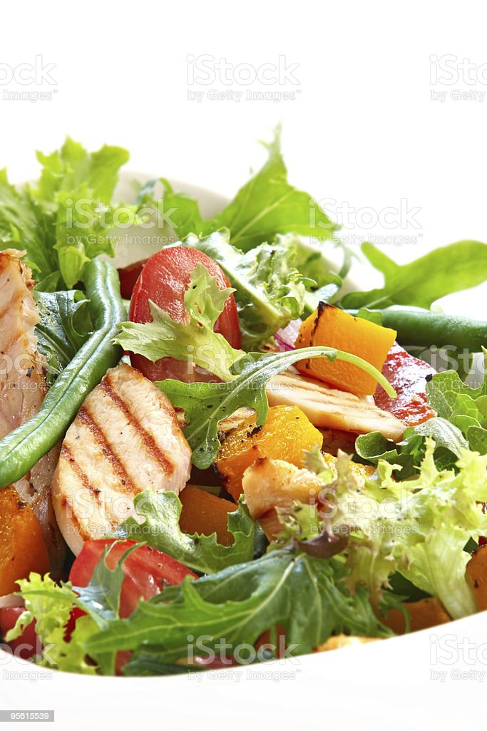 Chicken and Vegetable Salad stock photo