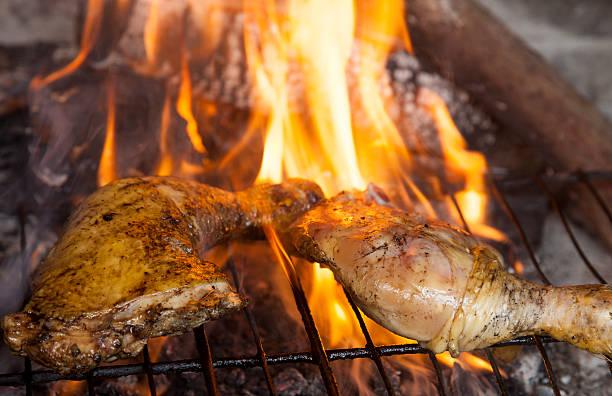 Chicken barbacue stock photo