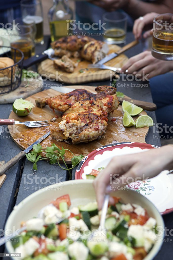 Chicken BBQ Meal stock photo