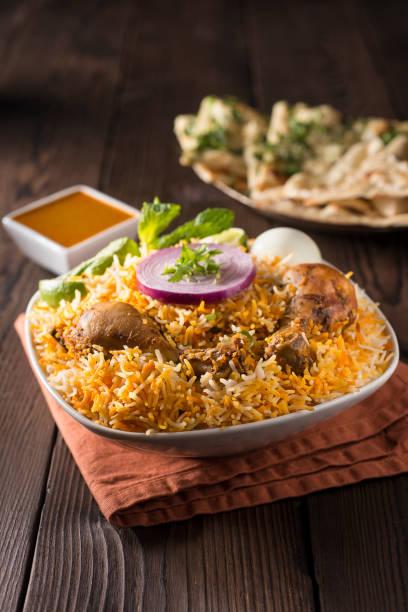 Chicken Biryani Chicken Biryani basmati rice stock pictures, royalty-free photos & images