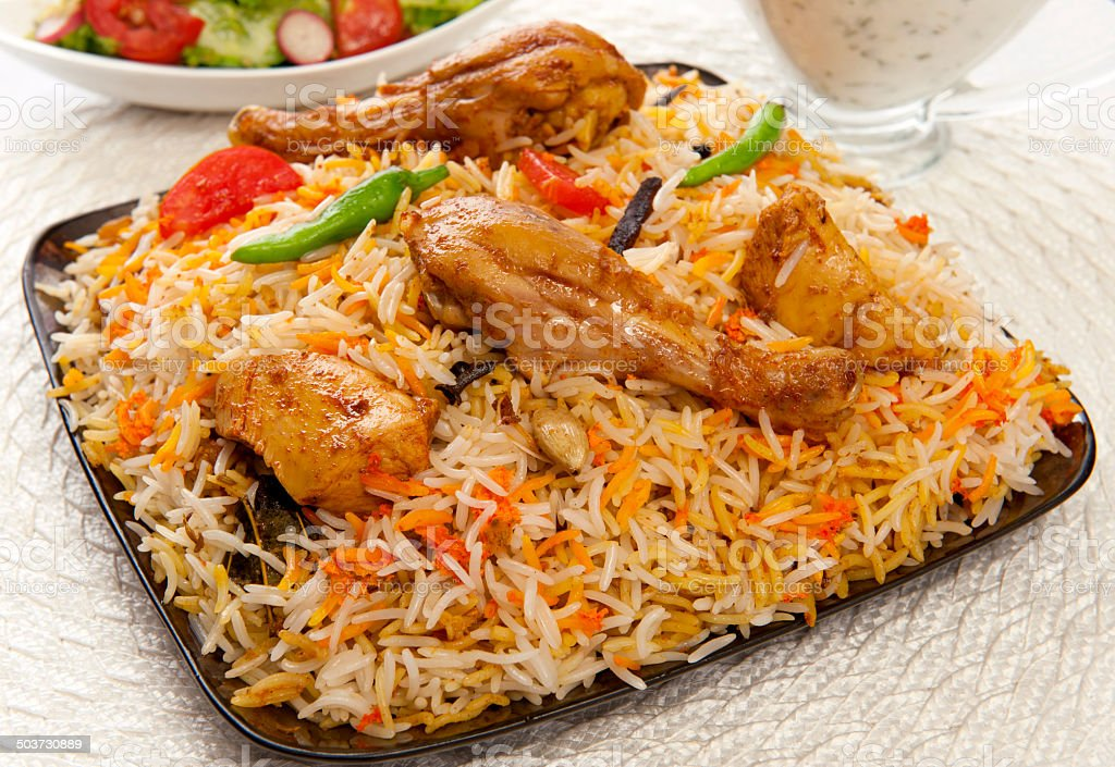 Chicken Biryani-1.11 stock photo