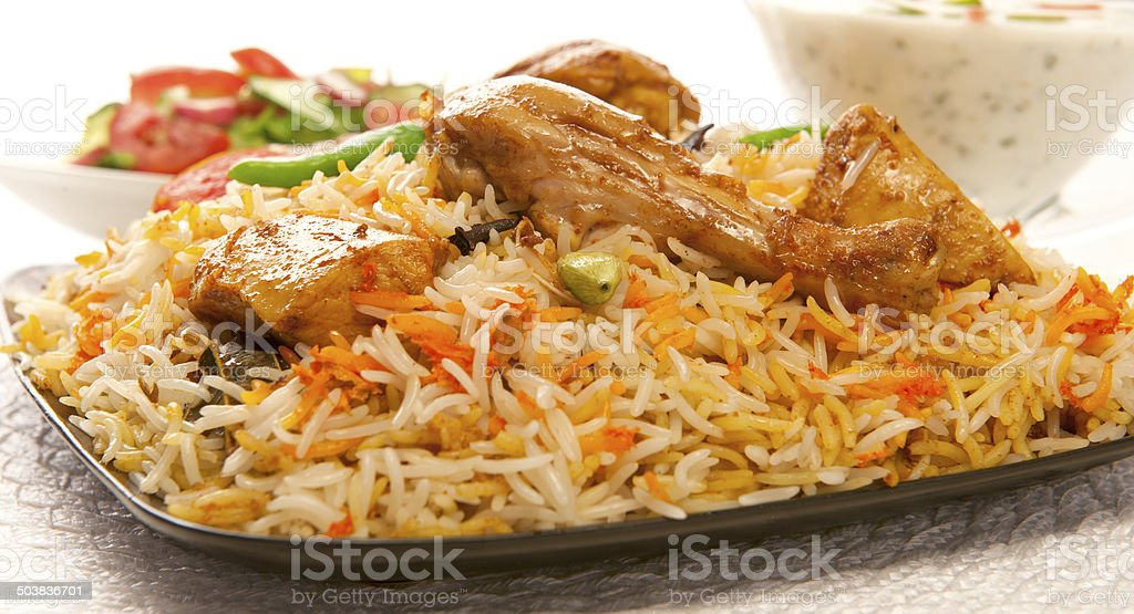 Chicken Biryani-1.9 stock photo