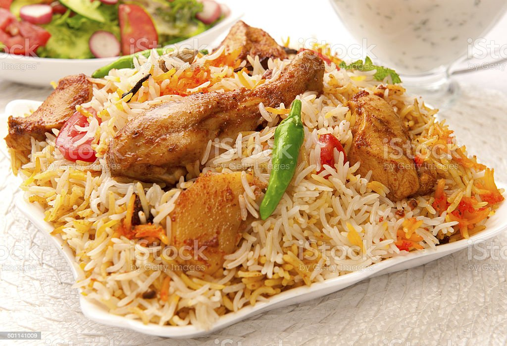 Chicken Biryani-5 stock photo