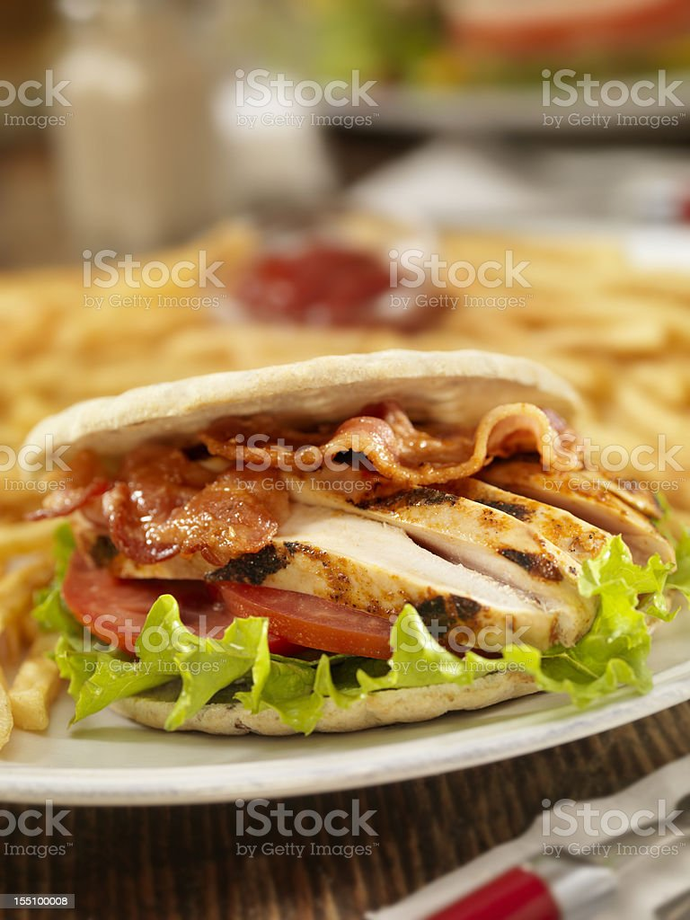 BBQ Chicken BLT stock photo