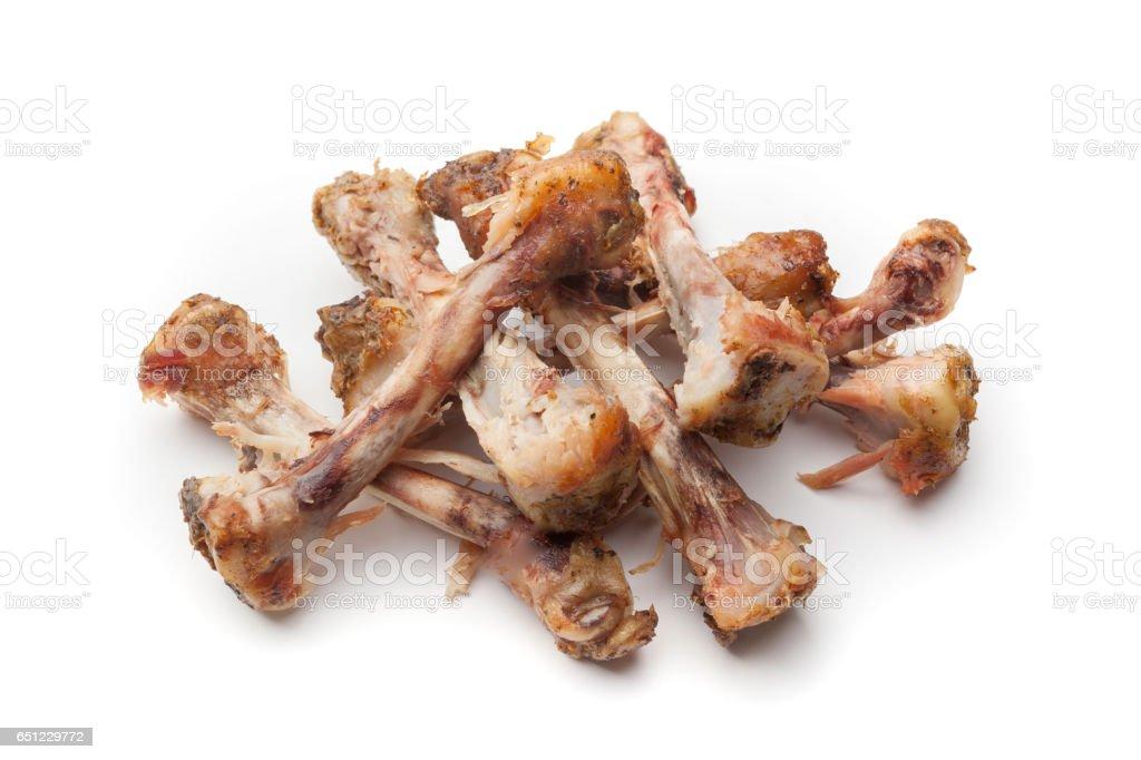 Chicken bones stock photo