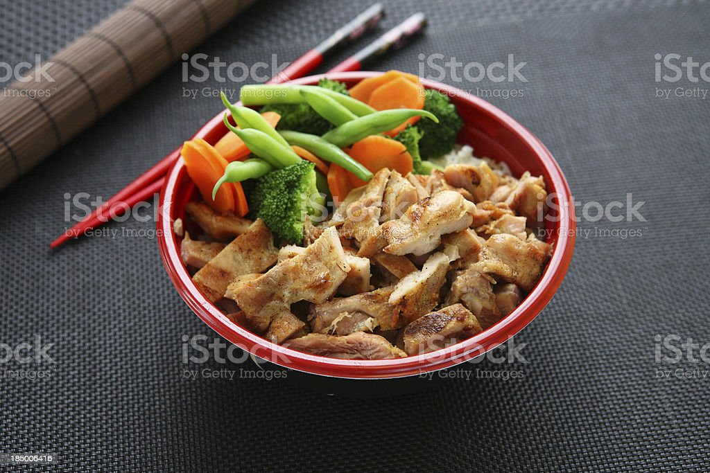 Chicken Bowl royalty-free stock photo