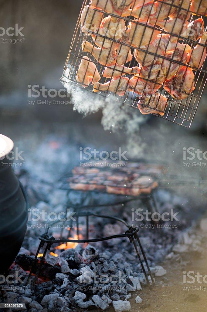 Chicken Braai stock photo