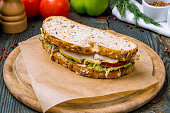 chicken breast and vegetable sandwich