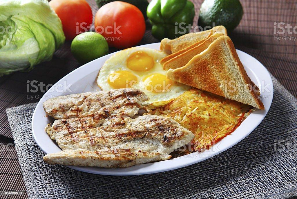 Chicken Breast Breakfast royalty-free stock photo