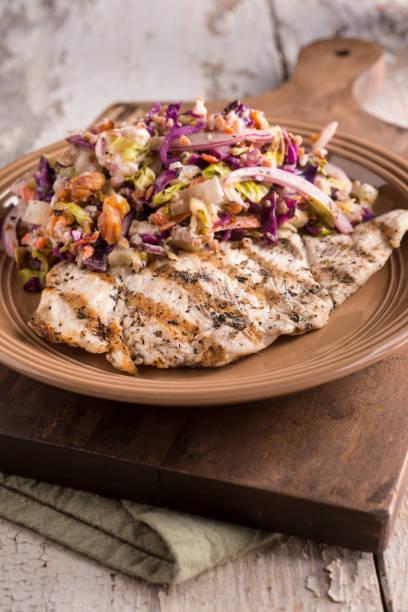 Chicken Breast Chop Salad stock photo