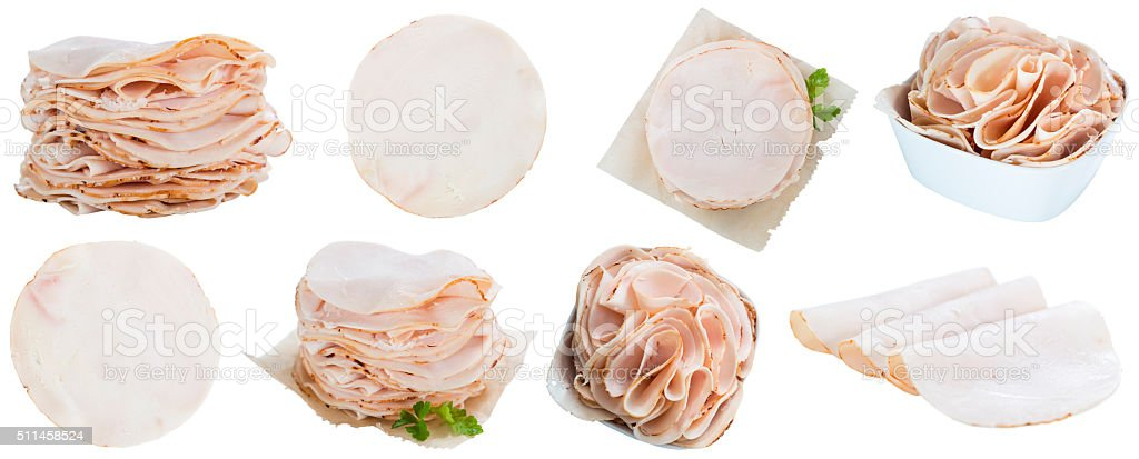 Chicken Breast Fillet (selective focus) isolated on white stock photo