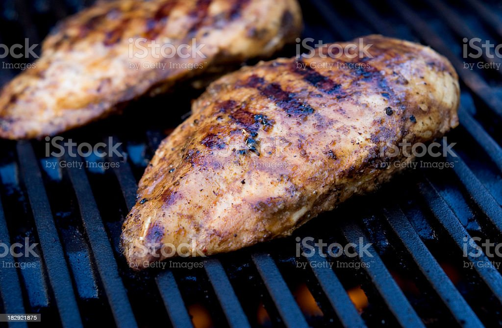 Chicken Breast Grilling royalty-free stock photo
