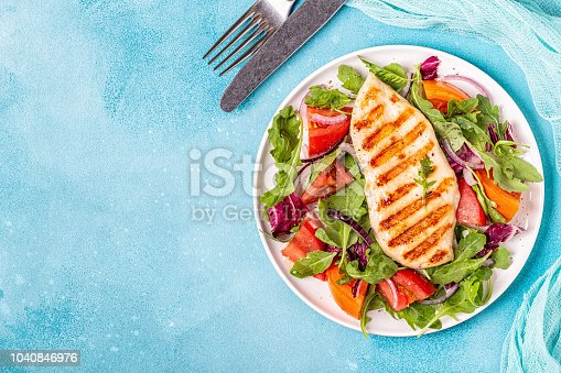 istock Chicken breast with fresh salad 1040846976