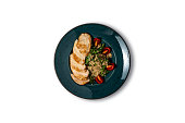 Chicken Breast with Fresh Salad Stock Photo