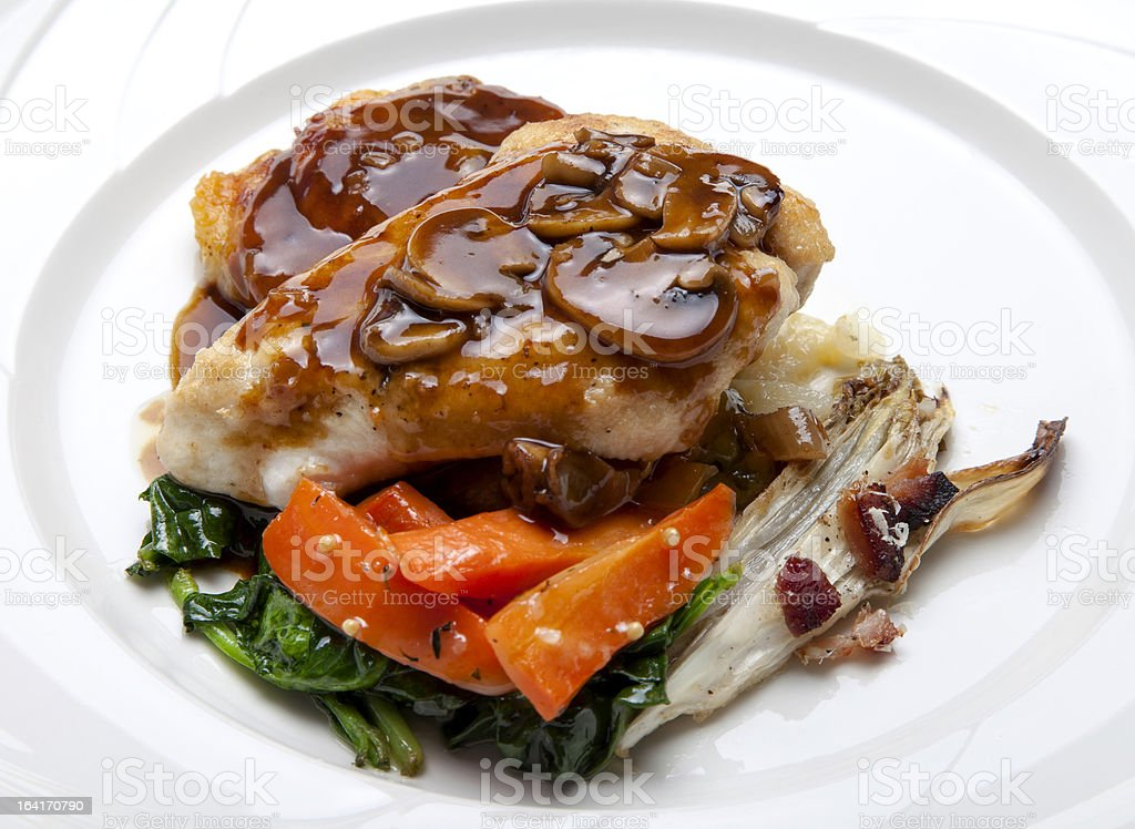 Chicken Breast with Sauce royalty-free stock photo