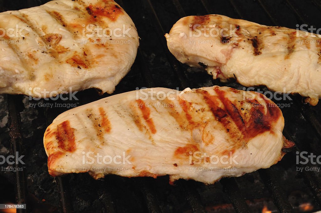 Chicken Breasts on the Grill royalty-free stock photo