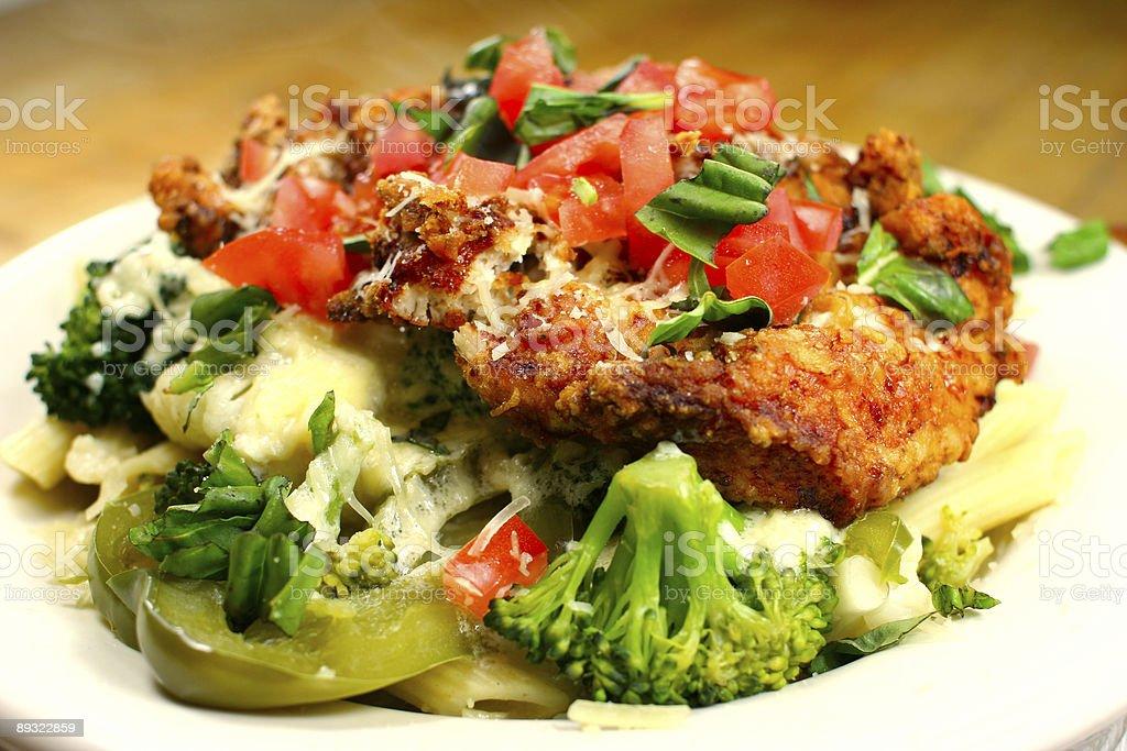 Chicken Broccoli Penne Pasta Dinner royalty-free stock photo