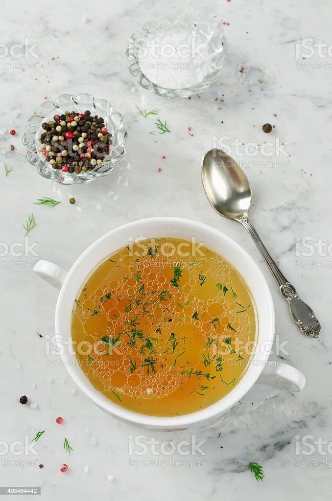 Bouillon de poulet - Photo