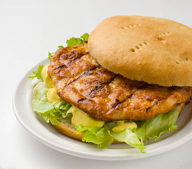 Hamburguesa de pollo - foto de stock