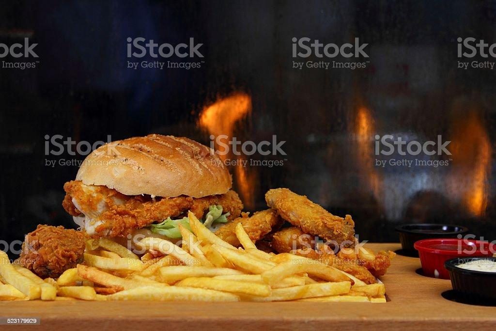 Chicken Burger Sandwich stock photo