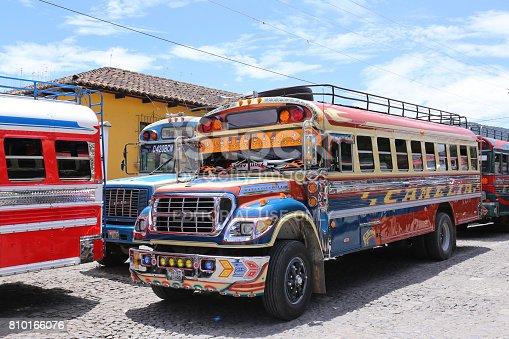 Chicken bus antigua in Guatemala May 2015