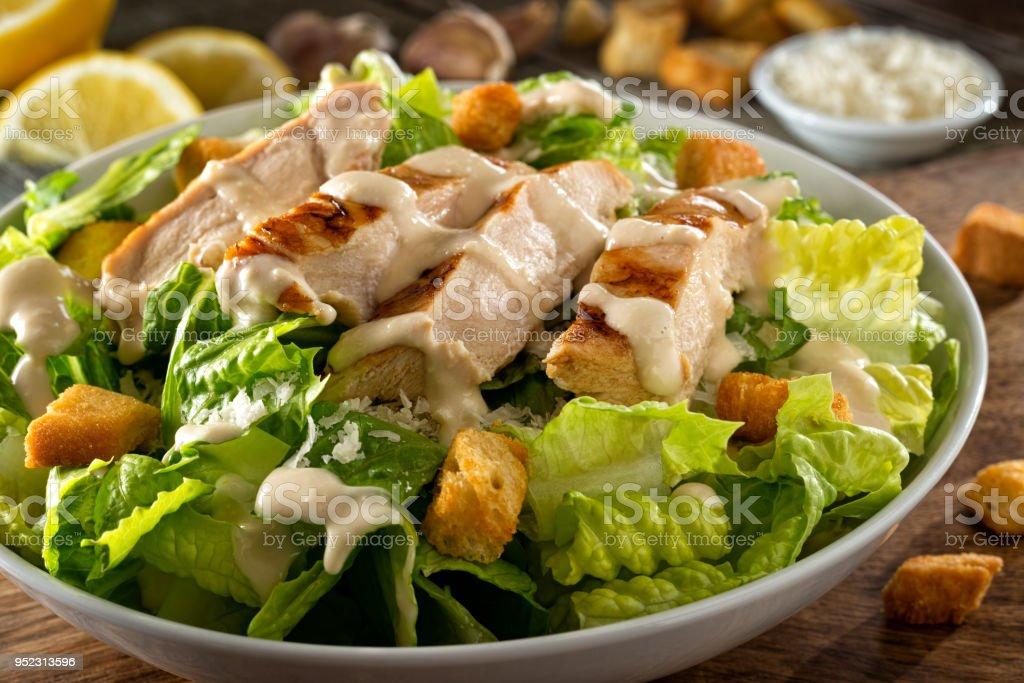 Salade au poulet Caesar photo libre de droits