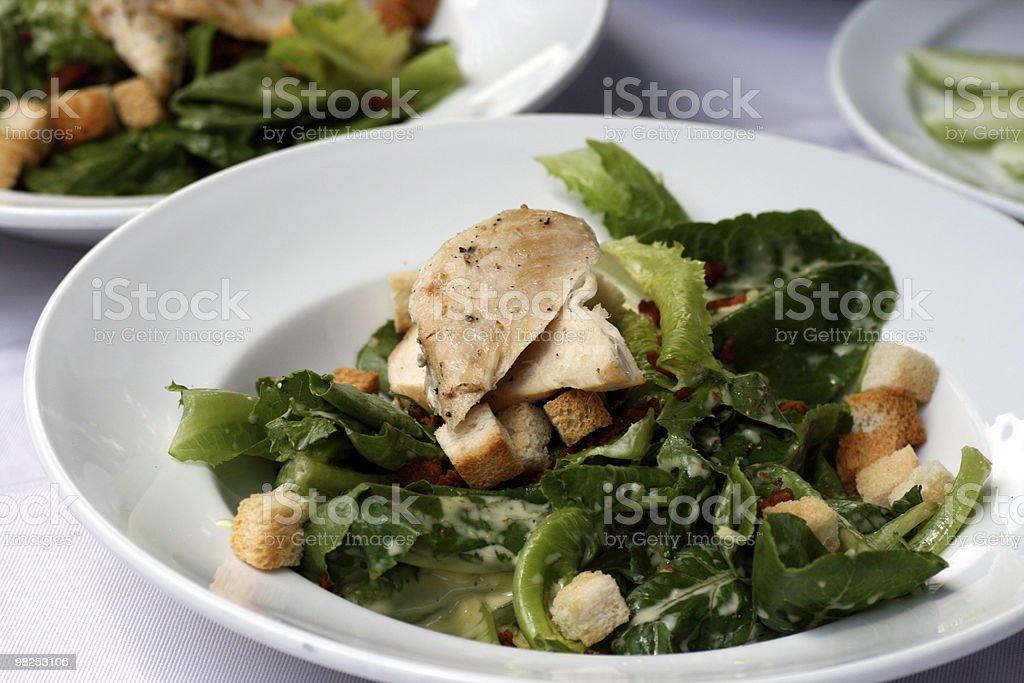 치킨 시저 샐러드 royalty-free 스톡 사진