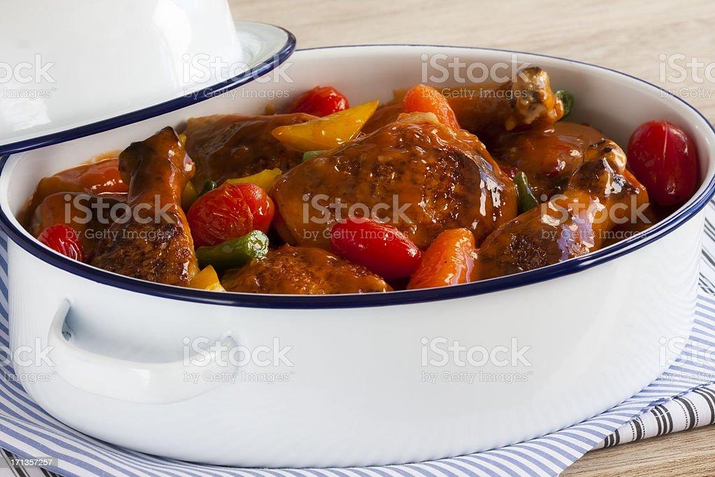 Chicken casserole stock photo
