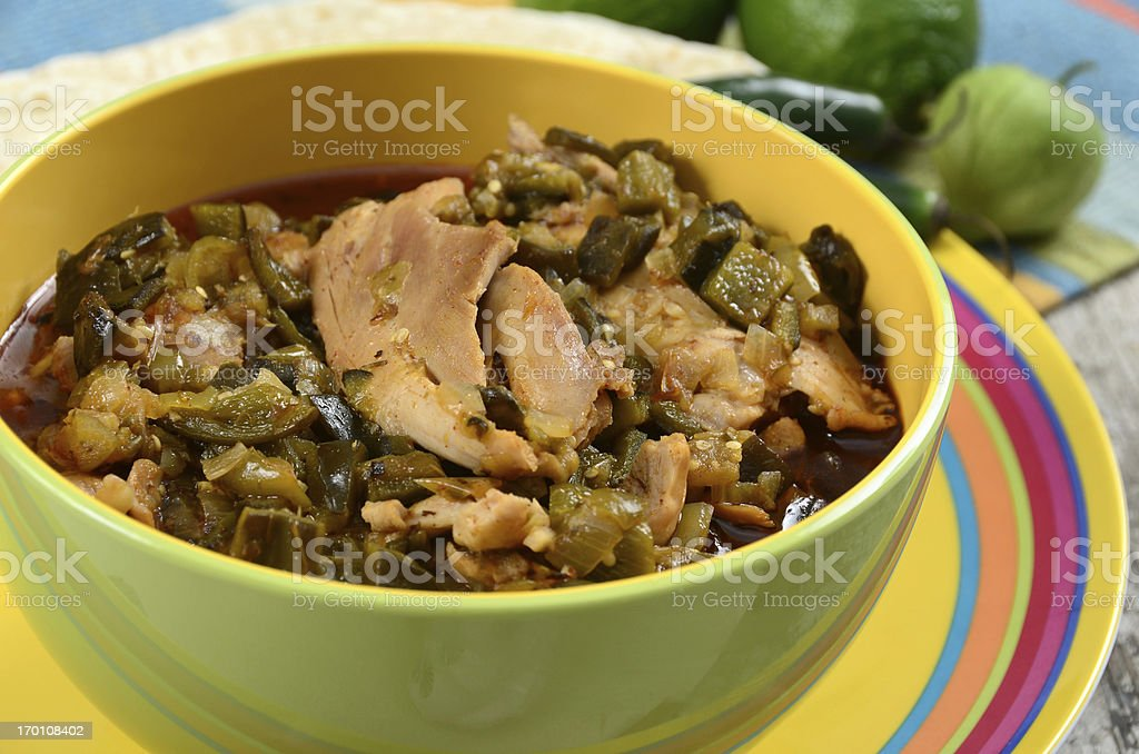 Chicken Chile Verde stock photo