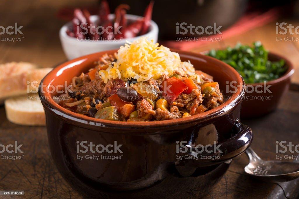 Chicken Chili stock photo