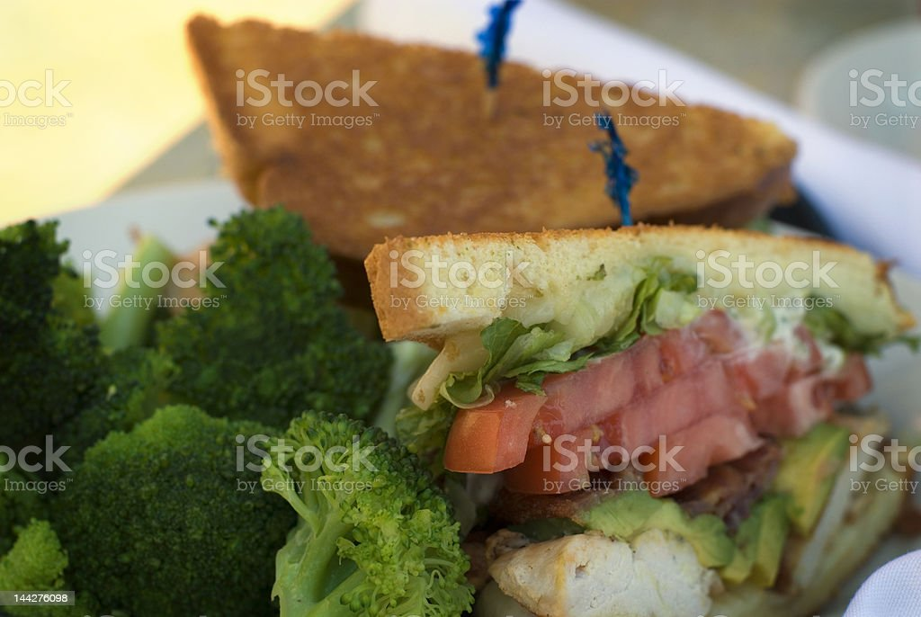 Chicken club sandwich royalty-free stock photo