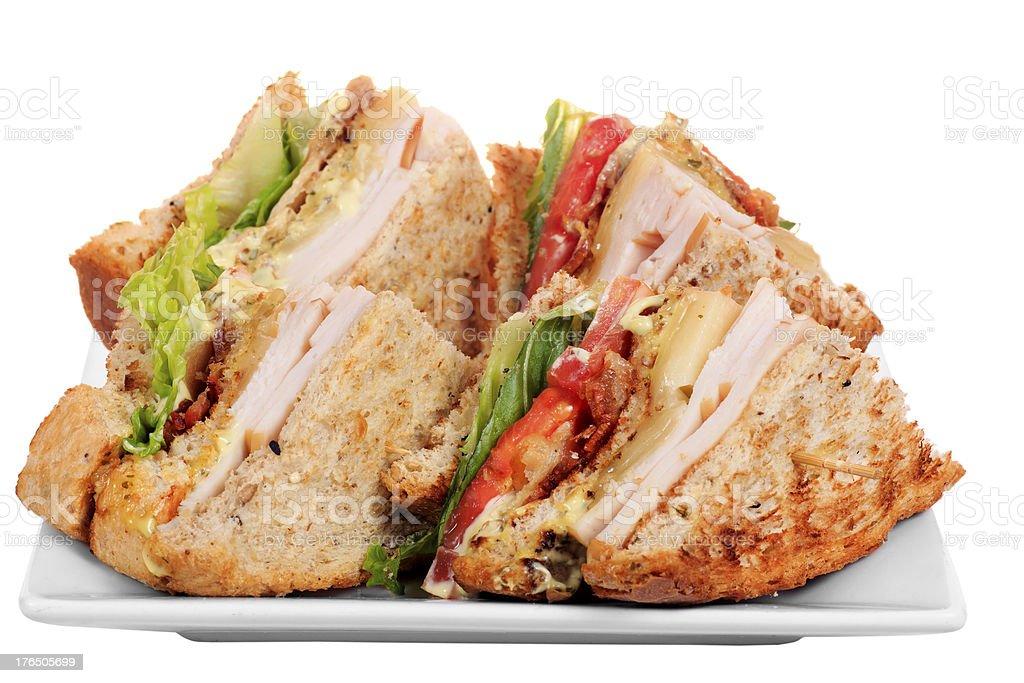 Chicken club sandwich stock photo