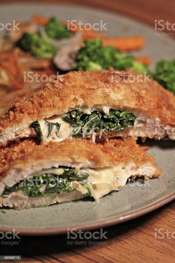 Chicken Cordon Bleu stock photo
