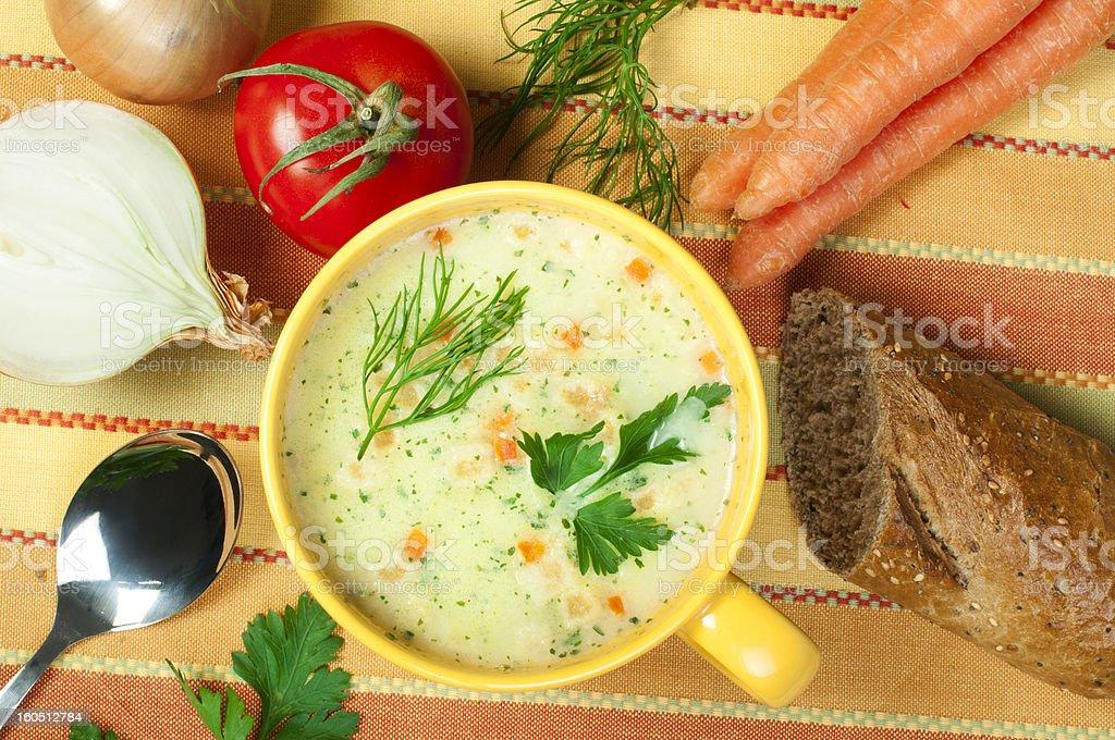 Chicken Cream Soup royalty-free stock photo