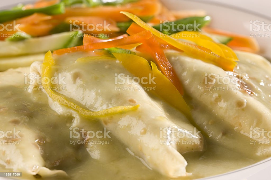 Chicken Crepe royalty-free stock photo