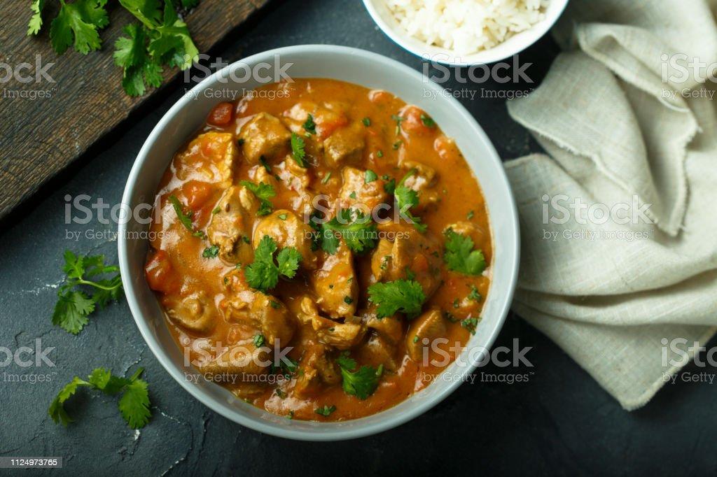 Frango ao curry - Foto de stock de Alimentação Saudável royalty-free