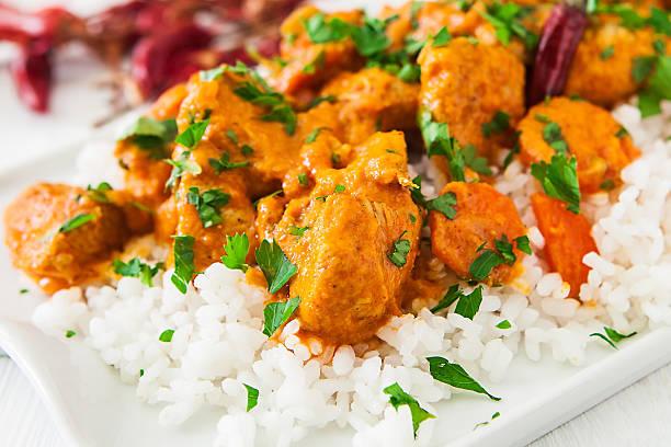 curry-huhn - curry reis stock-fotos und bilder