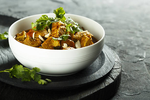 Chicken curry Chicken curry with cilantro curry powder stock pictures, royalty-free photos & images