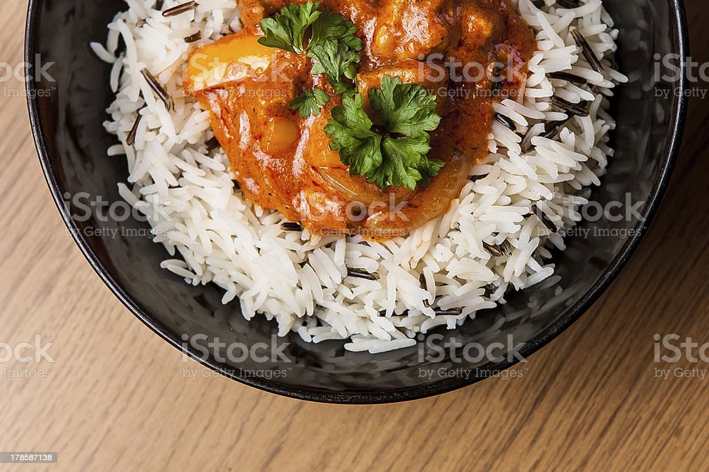 chicken curry with rice royalty-free stock photo