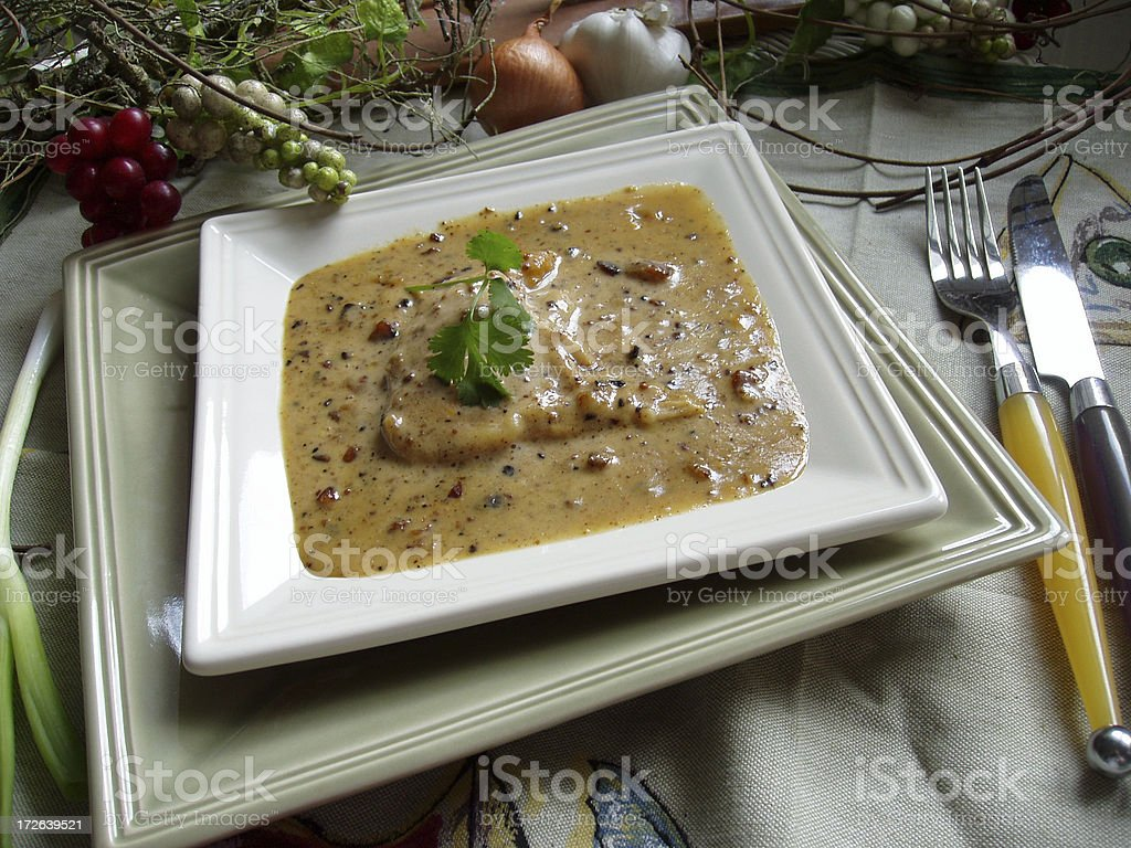 Chicken Dijon Dinner stock photo