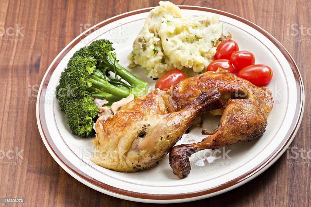 Chicken Dinner On The Table royalty-free stock photo