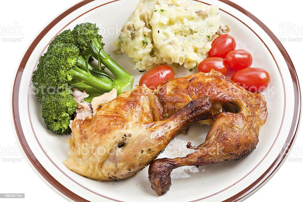 Chicken Dinner royalty-free stock photo