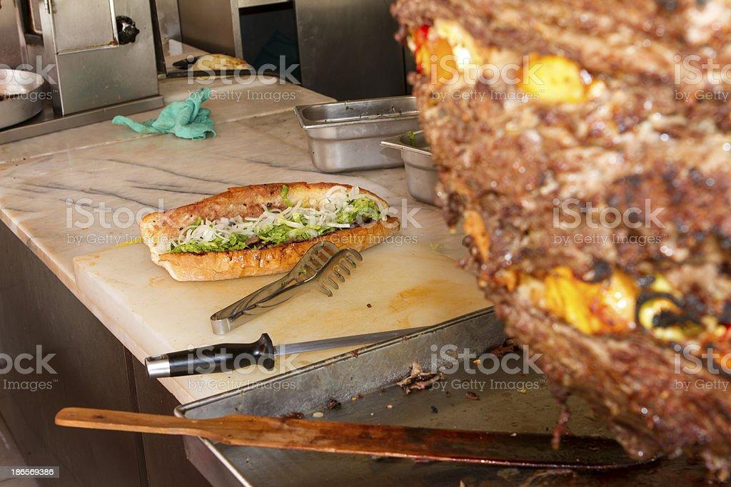 Chicken doner kebab stock photo