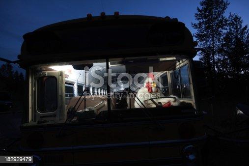 istock Chicken Driving a School Bus 182929479