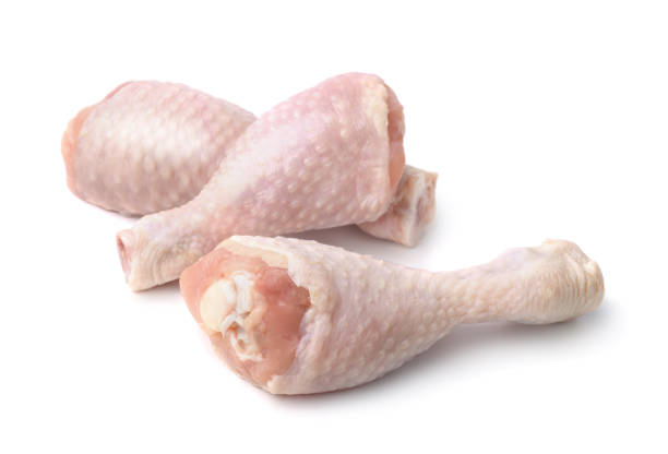 Chicken drumsticks Fresh chicken drumsticks isolated on white drumstick stock pictures, royalty-free photos & images