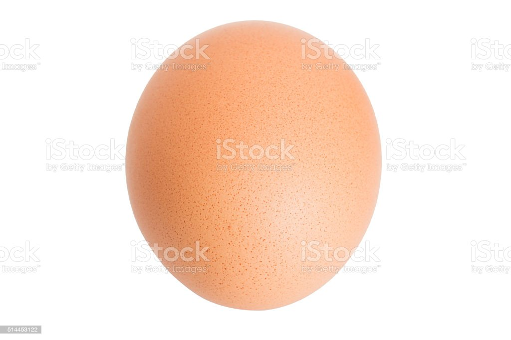 chicken egg isolated on white. stock photo