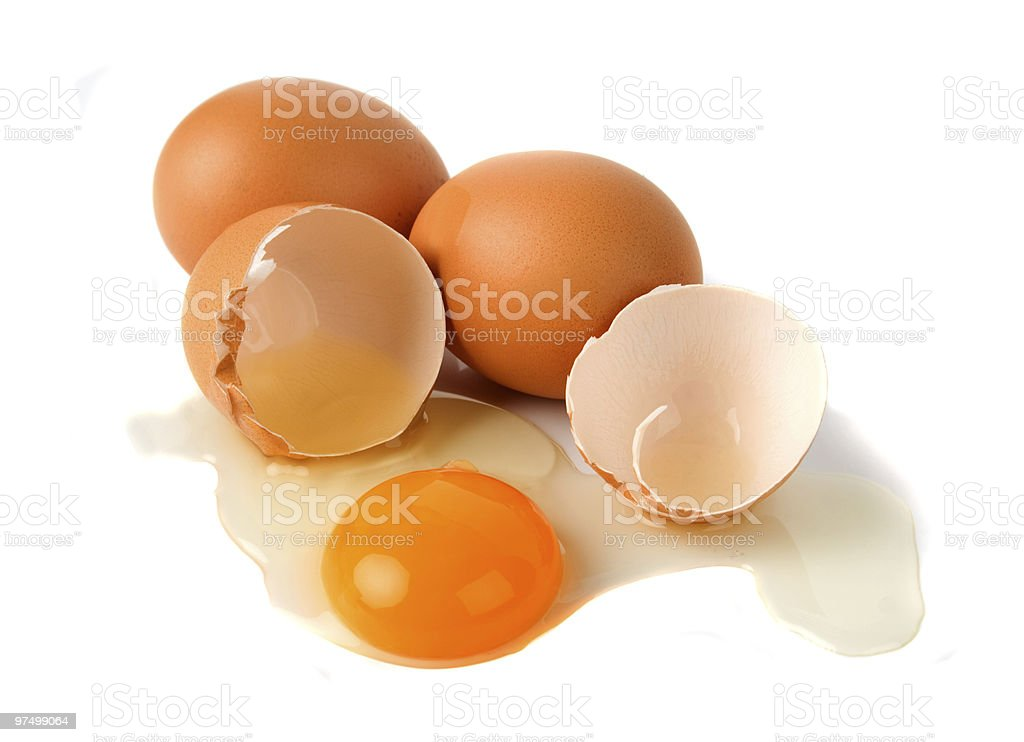 Chicken eggs isolated on white royalty-free stock photo