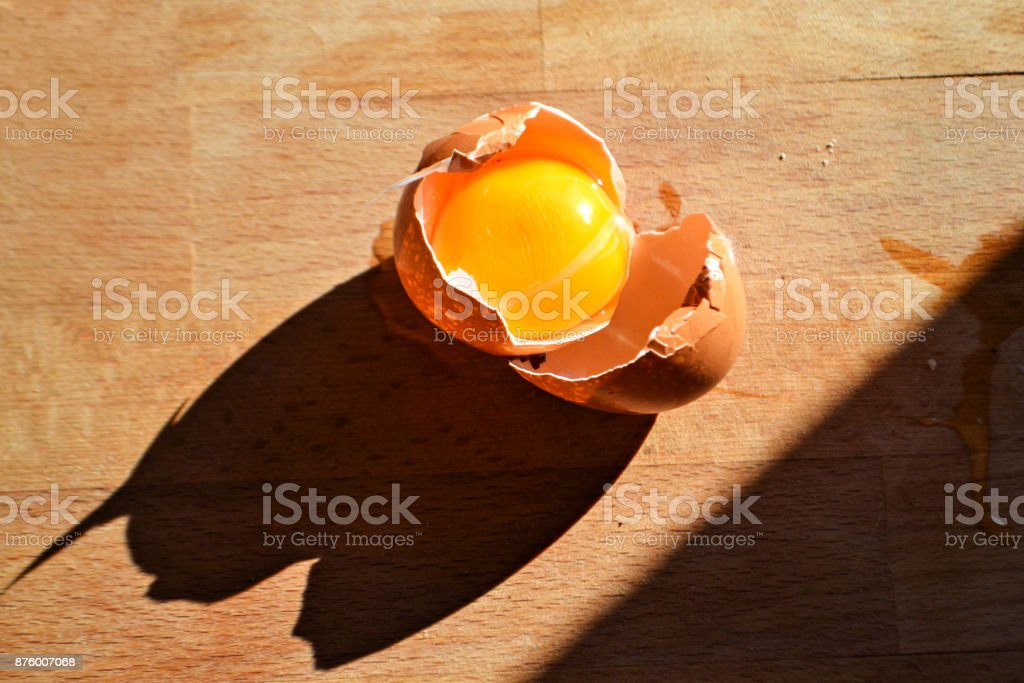 Chicken Brooch Egg Yolk Wood Pin